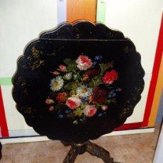 Antigüedades: MESA VELADOR ISABELINA, SIGLO XIX. Lote 38479777