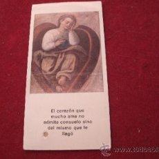 Oggetti Antichi: ANTIGUO RELICARIO ORIGINAL DE SANTA TERESA DE JESUS - ESTAMPA QUE TENIA ELLA EN SU BREVARIO -. Lote 38484253