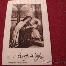 Antigüedades: ANTIGUO RELICARIO EX INDUMENTIS ORIGINAL DE SANTA TERESA DE JESUS - TELA TOCADA A SU CUERPO. Lote 38484273