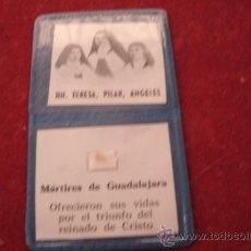 Antigüedades: ANTIGUO RELICARIO EX INDUMENTIS ORIGINAL DE LAS MÁRTIRES DE GUADALAJARA - TELA TOCADA A SUS CUERPOS. Lote 38484285