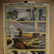 Antigüedades: ANTIGUA LAMINA RELIGIOSA ENTELADA - 102 X 70 CNTº - EDITADA POR JOSE VILAMALA. Lote 38490499