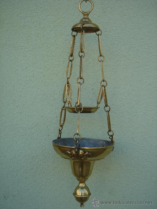 L mpara votiva antigua de bronce con angelitos comprar - Venta de lamparas antiguas ...