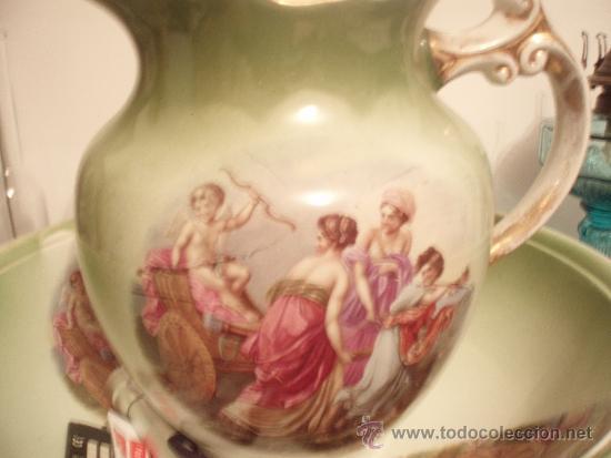 JARRA Y PALANGANA DE LA CARTUJA (Antigüedades - Porcelanas y cerámicas - La Cartuja Pickman)