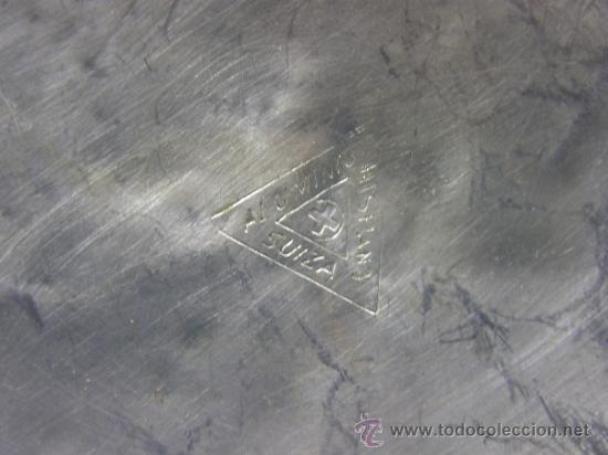 Antigüedades: fiambrera aluminio 1º mitad siglo XX diámetro 13 cm altura 6 cm Aluminio Hispano Suiza en la base - Foto 3 - 181330867