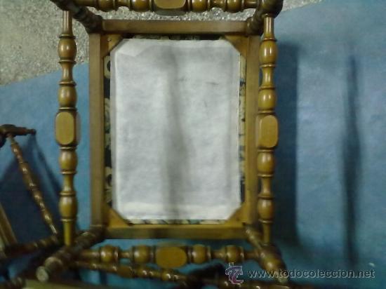 Antigüedades: TRESILLO ALFONSINO MADERA TORNEADA SILLONES SOFA - Foto 5 - 38525734