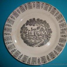 Antigüedades: PEQUEÑO PLATO PICKMAN S. A. LA CARTUJA DE SEVILLA, 19CM.. Lote 38571663