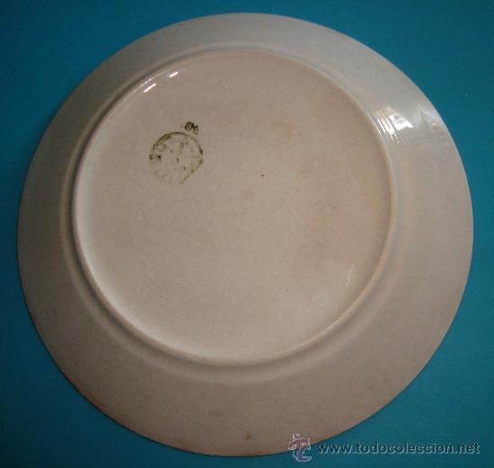 Antigüedades: PEQUEÑO PLATO PICKMAN S. A. LA CARTUJA DE SEVILLA, 19cm. - Foto 2 - 38571663