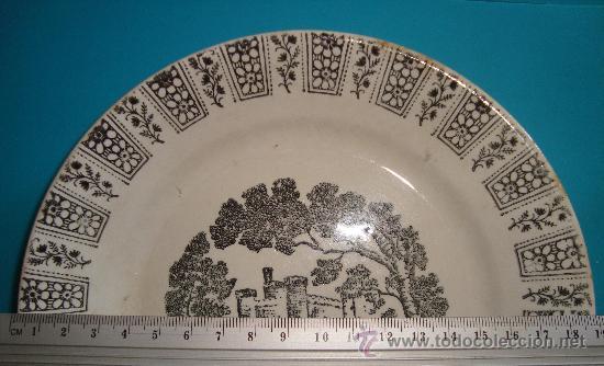 Antigüedades: PEQUEÑO PLATO PICKMAN S. A. LA CARTUJA DE SEVILLA, 19cm. - Foto 4 - 38571663