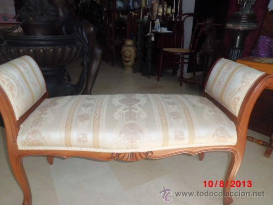 Cheslong de dos plazas en madera tallada comprar muebles for Cheslong dos plazas