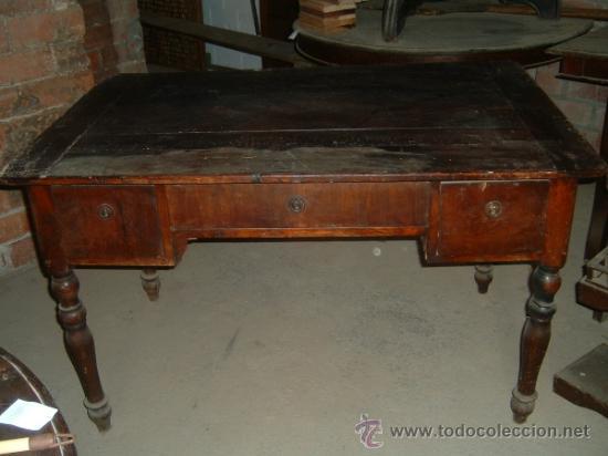 ESCRITORIO CAOBA (Antigüedades - Muebles Antiguos - Escritorios Antiguos)