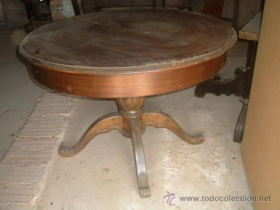 Mesa redonda extensible comprar mesas antiguas en for Mesa redonda extensible barata