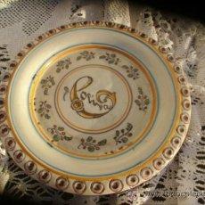 Antigüedades: MUY RARO PLATO DE TALAVERA DE SIGLO XIX. Lote 38580415