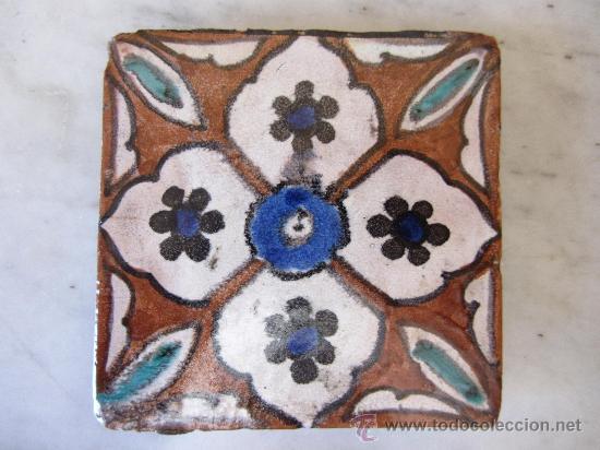 BALDOSA AZULEJO MARROQUÍ. CIRCA 1930 (Antigüedades - Porcelanas y Cerámicas - Otras)