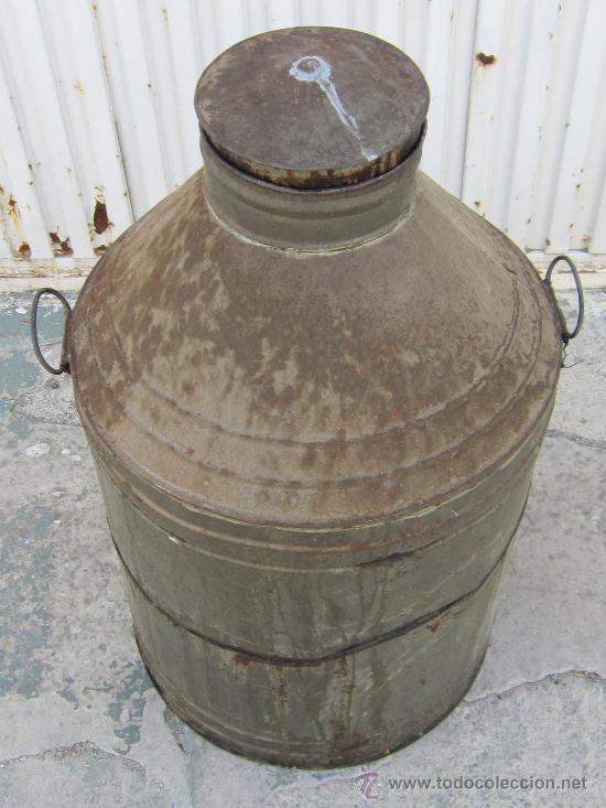 Antigüedades: CANTARA ANTIGUA DE ACEITE EN HOJA DE LATA - Foto 2 - 38589373