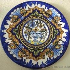 Antigüedades: PLATO DE CERÁMICA CON DIVERSOS MOTIVOS FLORALES. Lote 38591049