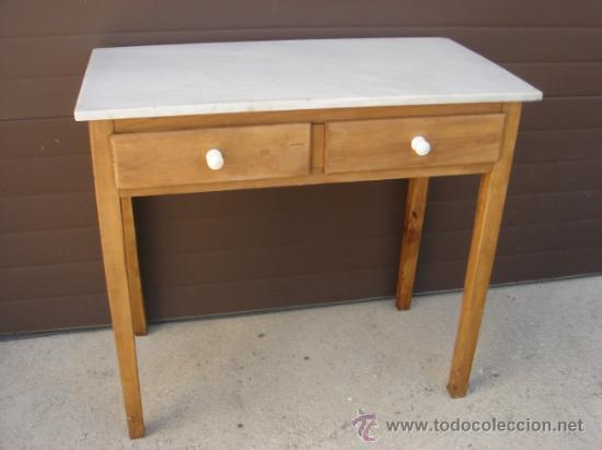 antigua y bonita mesa de cocina con tapa de mar - Comprar Mesas ...