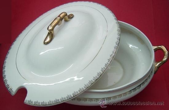 Antigüedades: Sopera de porcelana, La asturiana (Gijón) - Foto 4 - 38593372