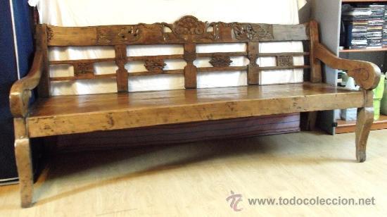 esca o banco de madera antiguo en burgos comprar
