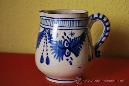 JARRA DE CERÁMICA - AZUL COBALTO (Antigüedades - Porcelanas y Cerámicas - Otras)