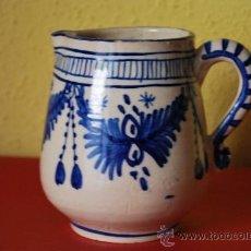 Antigüedades: JARRA DE CERÁMICA - AZUL COBALTO. Lote 38600249