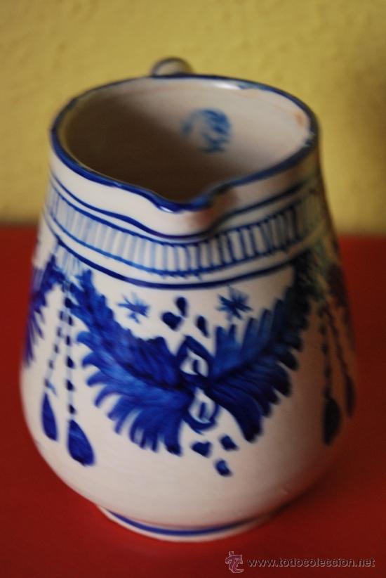 Antigüedades: JARRA DE CERÁMICA - AZUL COBALTO - Foto 3 - 38600249