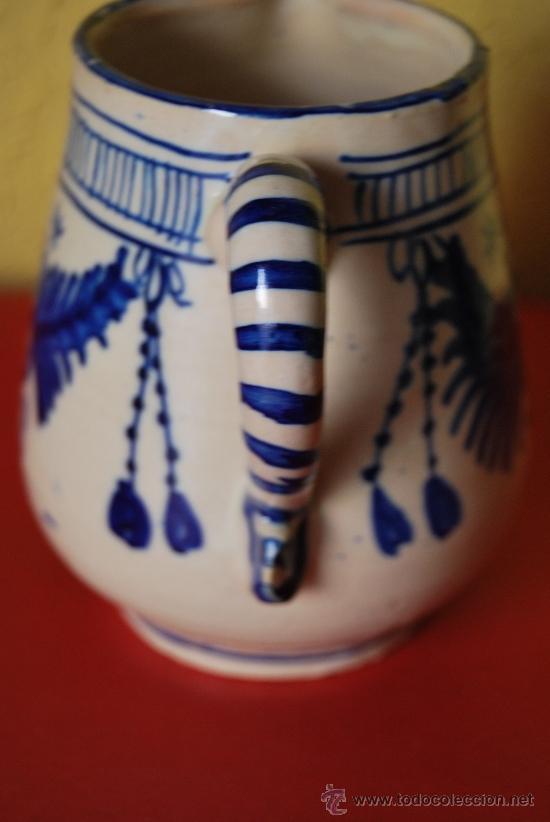 Antigüedades: JARRA DE CERÁMICA - AZUL COBALTO - Foto 5 - 38600249