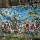Antigüedades: TAPIZ HINDU EN TERCIOPELO ELEFANTE INDIA DECORACION ORIENTAL. Lote 122847019