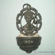 Antigüedades: ANTIGUA Y BONITA BENDITERA DE METAL DEL APOSTOL SANTIAGO.. Lote 141563086