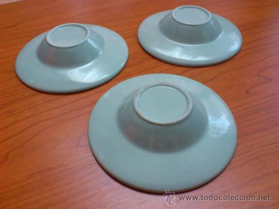 Antigüedades: Lote de tres cuencos o platitos orientales estilo celadon - Foto 5 - 38625625