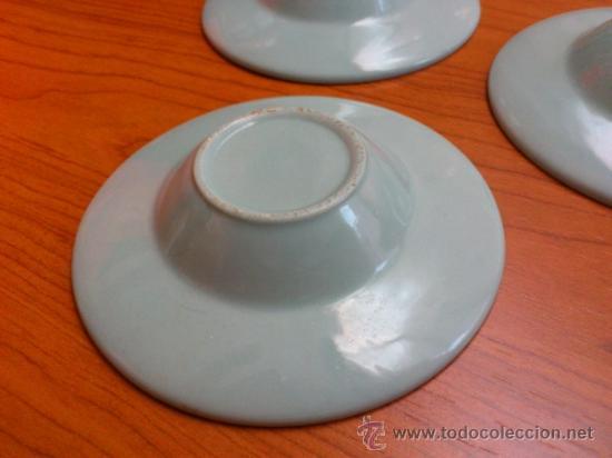 Antigüedades: Lote de tres cuencos o platitos orientales estilo celadon - Foto 3 - 38625625
