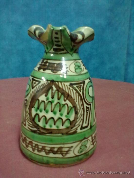 Antigüedades: JARRA BARRO DECORADA - Foto 3 - 38642614