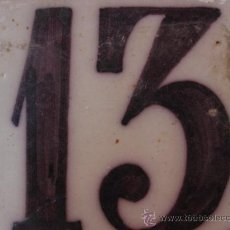 Antigüedades: BONITO AZULEJO TRIANA SIGLO XVIII - PPIOS XIX NUMERO 13. Lote 38640111