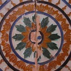 Antigüedades: AZULEJO TRIANA SIGLO XVIII PPIOS XIX. TECNICA ARISTA. Lote 38640133