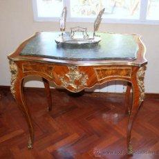 Antiquitäten - MESA ESTILO LUIS XV CON SOBREMESA DE MARMOL - 38645888