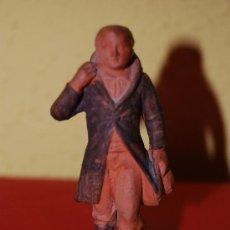 Antigüedades: ANTIGUA FIGURA DE TERRACOTA - CABALLERO - MARCA EN LA BASE S-ANNA - CIRCA 1900. Lote 38672610