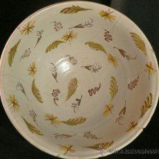 Antigüedades: ANTIGUO LEBRILLO CERAMICA VALENCIANA ? ONDA,RIBESALBES ¿. Lote 38678110