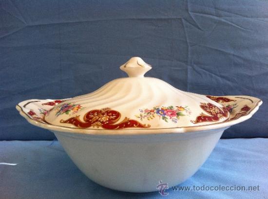 SOPERA ANTIGUA JOHNSON BROSS (OLD CELSEA) (Antigüedades - Porcelanas y Cerámicas - Inglesa, Bristol y Otros)