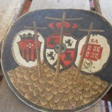 Antigüedades: ANTIGUO ESCUDO DE NAZARENO DE LA HERMANDAD DEL MUSEO SEMANA SANTA DE SEVILLA. Lote 38693592