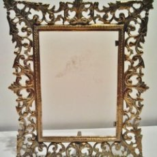 Antigüedades: PORTARETRATOS ANTIGUO DE BRONCE CALADO. . Lote 38705471