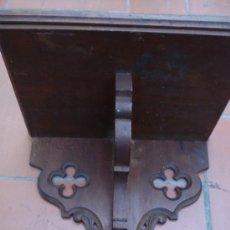 Antigüedades: MENSULA NEOGOTICA CON BANDEJA, CARCOMA TRATADA. Lote 38706875