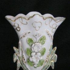 Antigüedades: ANTIGUO JARRÓN ISABELINO DE PORCELANA S. XIX. Lote 38712231