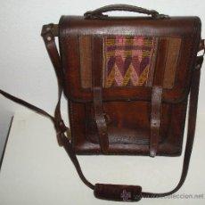 Antigüedades: BOLSO DE PIEL AÑOS 70. Lote 38714350