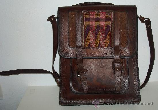 Antigüedades: BOLSO DE PIEL AÑOS 70 - Foto 6 - 38714350