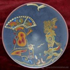 Antigüedades: GILBERT PORTANIER (CANNES, 1926) PLATO EN CERAMICA PINTADA. MARCA ROSENTHAL GERMANY. Lote 38779031