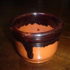 Antigüedades: CUENCO DE BARRO COCIDO Y VIDRIADO. Lote 38732861