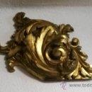 Antigüedades: IMPRESIONANTES VOLUTAS DE RETABLO EN TALLA DORADA. Lote 38735233