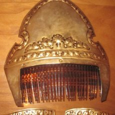 Antigüedades: JUEGO DE PEINETAS DE VALENCIANA FALLERA. Lote 38743687