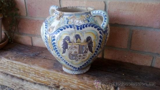 Antigüedades: jarron talavera leer - Foto 2 - 38744077