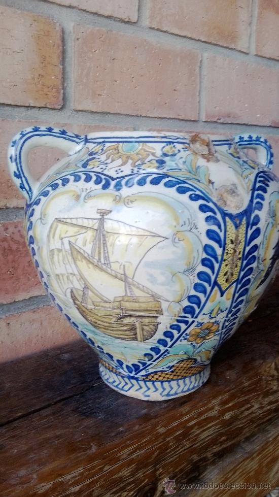 Antigüedades: jarron talavera leer - Foto 4 - 38744077