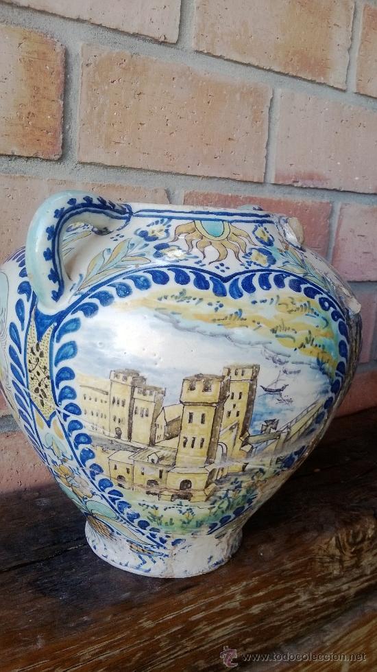 Antigüedades: jarron talavera leer - Foto 5 - 38744077